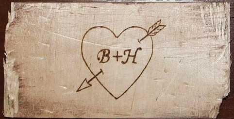 pirografia serce