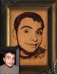 pirografia portret